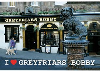 Greyfriars Bobby Moving Dog Fridge Magnet 3D Hologram Lenticular Effect