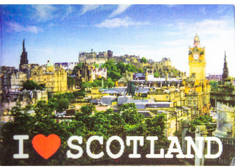 3D Fridge Magnet I Luv Scotland Edinburgh Castle Night and Day Hologram Effect Lenticular