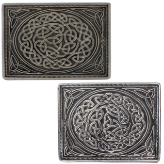 Pewter Knot Kilt Buckle 2 Styles Scottish Made