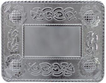 Celtic Thistle Kilt Buckle Polished Finish Scottish Made