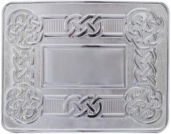 Celtic Swirl Kilt Buckle Polished Finish Scottish Made