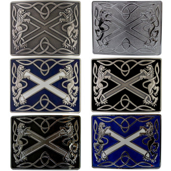 Highland Saltire Kilt Belt Buckle Scottish Made