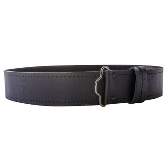 "Grained Unlined Leather Velcro Kilt Belt 2.25"" Wide Scottish Made"