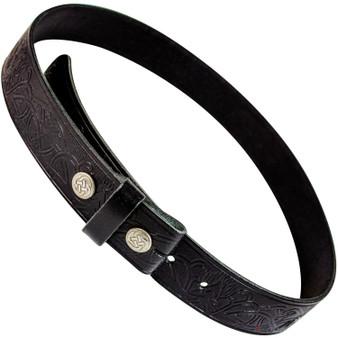 "Celtic Stag Snap Leather Trouser belt 1.5"""