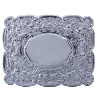 """Pipers Ceremonial Buckle Oval Centre Polished Chrome 2.5"""""""