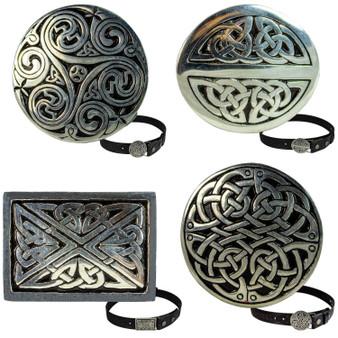 """Snap Buckle For Leather Belts For Trouser Belt 1.5"""" 4 Celtic Designs"""