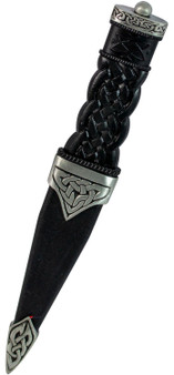 Sgian Dubh Dress Pip Top Antique Celtic Knot Handle