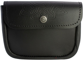 Scottish Traditional Utility Pouch Large Celtic Knot Lid Embossed Lid