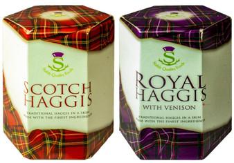 Scottish Haggis and Venison Haggis Selection of 2 Tins Made in Scotland