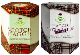 Scottish Haggis and Neeps & Tatties Haggis Mix Tin Selection of 2 Tins Made in Scotland