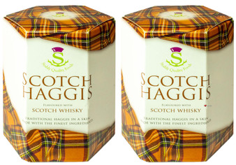 Traditional Scottish Haggis Scotch Whisky Flavour Pack of 2