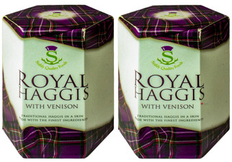 Royal Haggis with Venison Tin Pack of 2 Made in Scotland