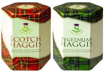 Scottish Haggis and Vegetarian Haggis Selection of 2 Tins Made in Scotland