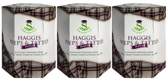 Scotch Haggis Mixed with Neeps & Tatties from Scotland Pack of 3