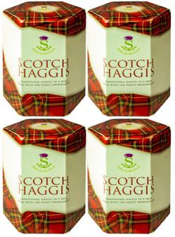 Scotch Haggis Tin Ideal Gift Pack of 4 Traditional Scottish Food