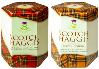 Scottish Haggis and Scotch Whisky Haggis Tin Selection of 2 Tins Made in Scotland