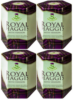 Scotch Haggis With Venison Tin Ideal Gift Pack of 4 Traditional Scottish Food