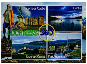 Loch Ness 360 Trail Walk Fridge Magnet Scenic Scottish Locations Light Background
