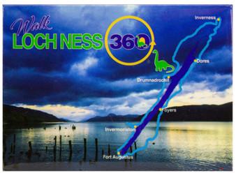 Loch Ness 360 Trail Walk Fridge Magnet Scotland with Map Night Scene