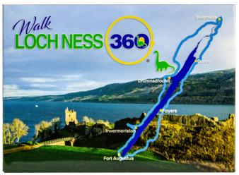 Loch Ness 360 Trail Walk Fridge Magnet Scotland with Map Daytime