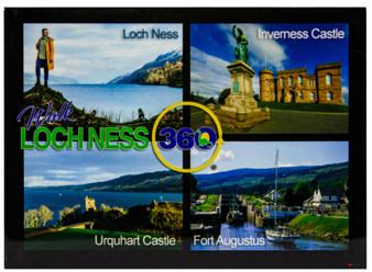 Loch Ness 360 Trail Fridge Magnet Scenic Scottish Locations Dark Background
