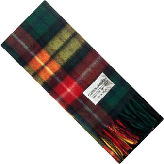 Luxury 100% Cashmere Scottish Clan Scarf Buchanan Modern