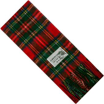 Luxury 100% Cashmere Scottish Clan Scarf Stewart Royal Modern