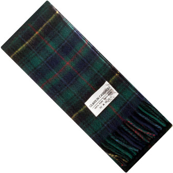 Luxury 100% Cashmere Scottish Clan Scarf MacInnes Hunting Modern