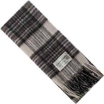 Luxury 100% Cashmere Scottish Clan Scarf Stewart Grey Dress Modern