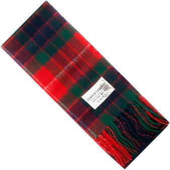 Luxury 100% Cashmere Scottish Clan Scarf Fraser Red Modern