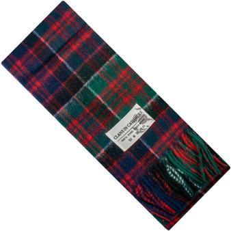 Luxury 100% Cashmere Scottish Clan Scarf MacDonald of Clanranald Modern