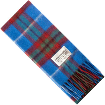 Luxury 100% Cashmere Scottish Clan Scarf Edinburgh