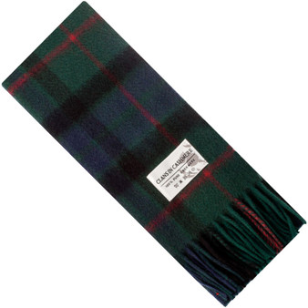 Luxury 100% Cashmere Scottish Clan Scarf Gunn Modern
