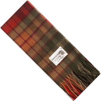 Luxury 100% Cashmere Scottish Clan Scarf Buchanan Autumn