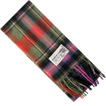 Luxury 100% Cashmere Scottish Clan Scarf Bruce of Kinnaird Ancient