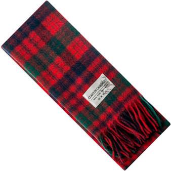 Luxury 100% Cashmere Scottish Clan Scarf Ross Red Modern