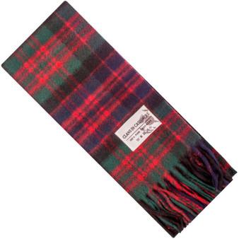 Luxury 100% Cashmere Scottish Clan Scarf MacDonald Clan Modern
