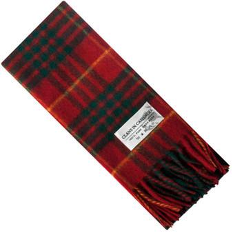 Luxury 100% Cashmere Scottish Clan Scarf Cameron Clan Modern