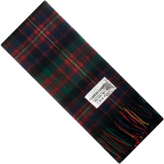 Luxury 100% Cashmere Scottish Clan Scarf Cameron of Erracht Modern