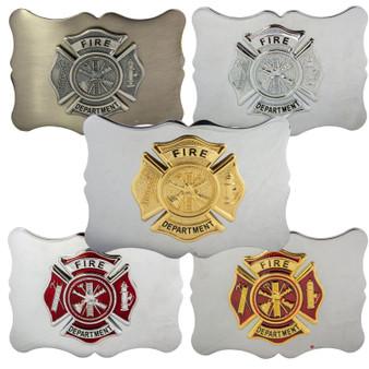 Fire Department Badge Kilt Belt Buckle Assorted Badge Colours