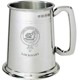 Lockhart Clan Crest Tankard 1 Pint Pewter