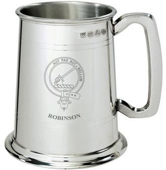 Robinson Clan Crest Tankard 1 Pint Pewter