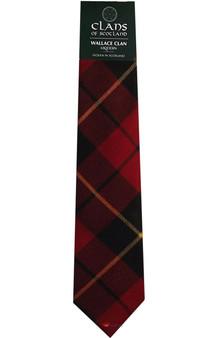 Wallace Clan 100% Wool Scottish Tartan Tie