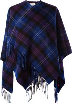 Ladies Mini Lambswool Cape in Heritage Of Scotland Tartan