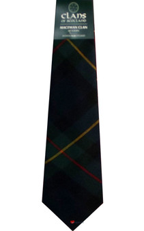 MacEwan Clan 100% Wool Scottish Tartan Tie