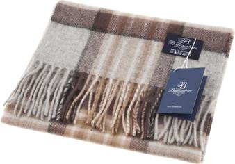 100% Lambswool Scarf Mackellar Natural Scottish Gift Winter Scotland