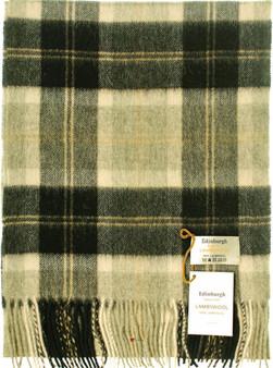 Scarf 100% Lambswool Edinburgh Brand 1436 in Bannockbane Silver Tartan