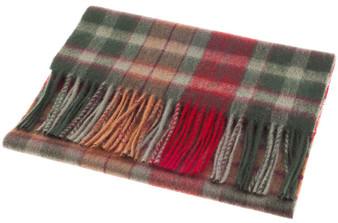 Scarf 100% Lambswool Edinburgh Brand 1436 in Buchanan Autumn Tartan