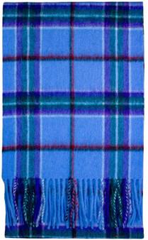 Edinburgh 100% Pure Lambswool Unisex Scarf in World Peace Tartan Width : 30cm - 134cm