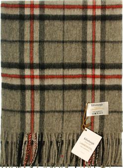 Scarf 100% Lambswool Edinburgh Brand 1436 in Thomson Grey Tartan